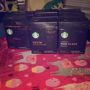 Starrbucks Verismo K-fee cups 8 boxs 12 in each